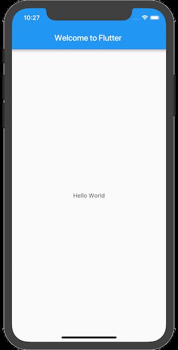 Hello world app on iOS